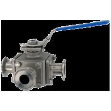 3-ходовой шаровой клапан 3BV3SH санитарного исполнения из нержавеющей стали