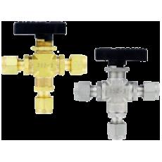 Компактный 3-ходовой шаровой клапан 3MSV