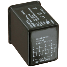 Герметично уплотненное реле в прозрачном корпусе серии 782H
