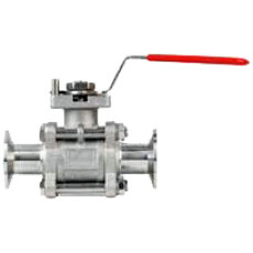 Трехдетальный санитарный шаровой клапан BV3HL
