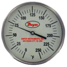 Биметаллический термометр с подсветкой в темноте GBT