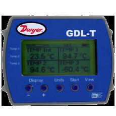 Регистратор данных для четырех температур с графическим дисплеем GDL-T