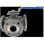 Трехходовой фланцевый шаровой клапан 3BV2FH из нержавеющей стали