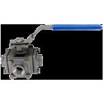 3-ходовой шаровой клапан 3BV3H из нержавеющей стали