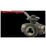 Трёхходовой NPT шаровой клапан WE31 из нержавеющей стали