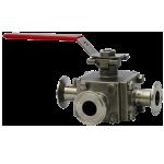 Трёхходовой шаровый клапан WE33 Tri-Clamp